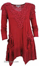 Pretty Angel Clothing Lola Tunic In Red 10770RD