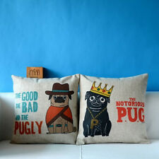 New Year Gift Throw Sofa Decorative Pillow Case Cushion Cover Pug Pattern