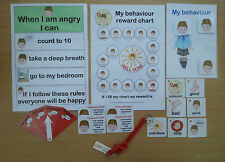 BEHAVIOUR PACK BOY OR GIRL  - great visual reminder autism/sen/aspergers/speech