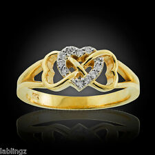 Gold Double Infinity Heart Diamond Ring (USA)