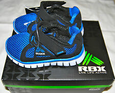 NIB RBX Toddler Boys Jason Running Shoe in Black and Blue with Velcro