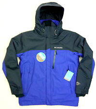 New Columbia Mens Omni Heat Waterproof 3 in 1 Ski Winter Coat Jacket Parka Blue