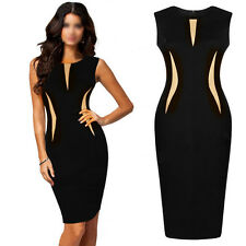 Sexy Women Sleeveless Slim Fashion Bodycon Party Cocktail Evening Pencil Dress