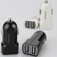 3.1 AMP DUAL TWIN 2 PORT USB 12-24V Universal Car Lighter Socket Charger Adapter