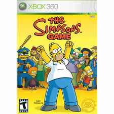THE SIMPSONS GAME *GOOD CONDITION - WITH MANUAL* UK PAL FOR XBOX 360