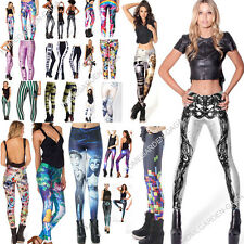 S-M,L-XL Punk Gothic Costumes Party Muscle Galaxy Pants Leggings Trousers