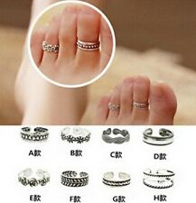 XI CA New Celebrity Simple Retro Flower Design Adjustable Toe Ring Foot Jewelry