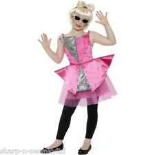 Girls Lady Gaga Dance Diva Famous Celebrity Popstar Fancy Dress Costume Outfit
