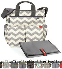 NEW SKIP HOP DUO SIGNATURE NAPPY DIAPER BABY BAG W/ CHANGING PAD - 10 COLOURS TO