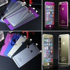 5Color's Mirror Effect Color Tempered Glass Screen Protector For iphone 6 6plus