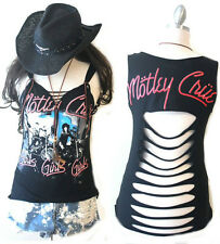 """Motley Crue Super Sexy Tank Top """"Girls Girls Girls with leather necklace"""