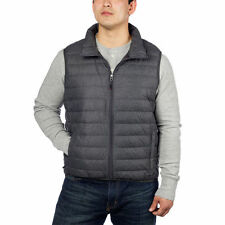 NEW Mens Hawke & Co DARK HEATHER GRAY Down Packable Vest Jacket U PICK SIZE