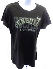 Pittsburgh Penguins Hockey NHL Ladies Short Sleeve T-Shirt Black