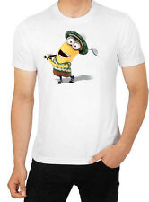 Minion Golf Desing  Despicable Me  Men's White T-Shirt Brand New