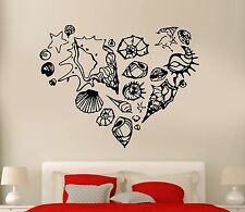 Wall Sticker Romantic Ocean Sea Marines Shell Heart Cool Art Bedroom (z2582)