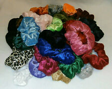 Crushed Velvet Hair Scrunchie Elastic Colour Choice School / Sports / Work