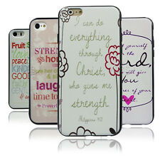 Philippians 4:13 Bible Verse Quote TPU Bumper Hard case For iPhone4 4S 5 5S 6