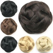 Hair Chignon Synthetic Donut Roller Hairpieces Clip-In Fake Hair Bun