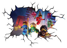 Lego Ninjago Magic Window Image Wall Sticker Mural Poster multi size V2