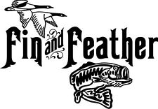 Hunting Bird Fish Fin and Feather E120 Vinyl Decal ANY SIZE Sticker Car Wind
