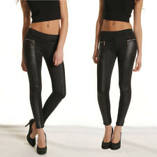 CHEAP Sexy PU leather pants Womens Leather Leggings jeggings Skinny Pencil Pants