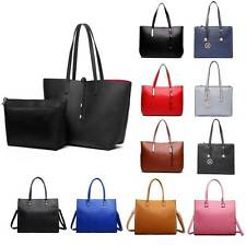 Ladies Designer Leather Style Large Tote Bag Shoulder Satchel Handbag