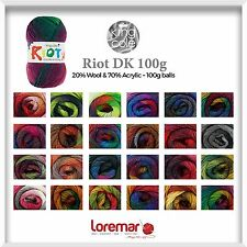 King Cole Riot DK 100g Double Knitting Yarn Wool,  15 shades