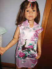 ASIAN INSPIRED Cheongsam Chinese Dress 12-18M for toddler, Reborn or Adoptee