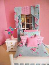 MINIATURE DOLLS HOUSE 12TH SCALE SHABBY CHIC SINGLE BEDROOM FURNITURE