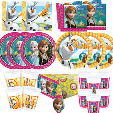 Disney Frozen Princess Birthday Party Tableware Plates CupsTablecover Napkins!!