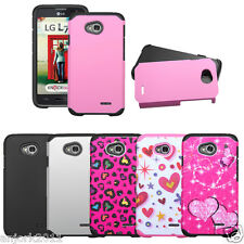 LG Optimus L70 Exceed 2 Ultimate 2 Realm VS450 L41C Hybrid Fusion Case Cover
