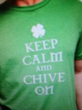 the Chive *Authentic* IRISH Keep Calm and Chive On Men's T-Shirt XXL