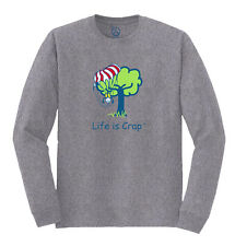 Life Is Crap - Parachute Tree Landing Printed Adult Long Sleeve T-Shirt