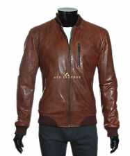 Wayne Brown Men's Smart Casual Style Designer Real Soft Lambskin Leather Jacket