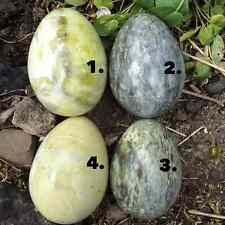 Connemara marble stone eggs. Galway Ireland. Green rock. Stand included. Irish