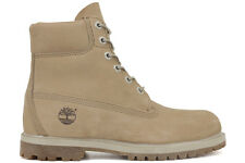 Timberland 6-Inch Premium 8129B New Womens Off White Waterproof Boots Shoes