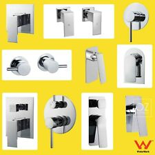 WaterMark Bathroom Solid Brass Chrome Square Round Shower Mixer Hot Cold Taps