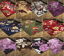 FLORAL Modern Rugs Small Large & Runners SOFT