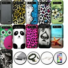 DESIGN 2 PIECE COVER PLASTIC CASE for ZTE SPEED N9130 + ACCESSORY SET