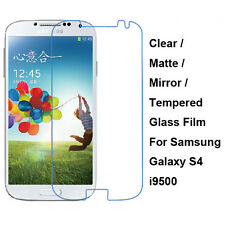 Tempered Glass / Clear / Matte / Mirror Screen Protector For Samsung Galaxy S4