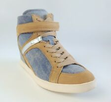 New! GUESS $120 Blue Denim Flat Sneaker PERINA 12 Women's Shoes