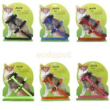 Pet Cat Kitten Adjustable Harness Collar Leash Walking Lead Safety Strap Rope