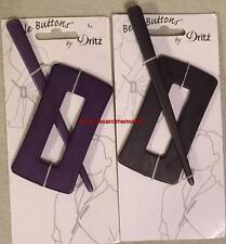 Shawl Pin BELLE BUTTONS by Dritz Choose Purple or Slate Black