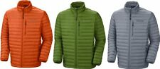 COLUMBIA COMPACTOR DOWN JACKET MENS GREY GREEN ORANGE 800 FILL DOWN AUTHENTIC