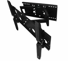 Mount-it Heavy Duty Dual Arm Articulating Swivel Tilt Wall Mount for LCD LED TVs