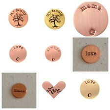 Origami Owl Rose Gold Plates NLA New Valentines Heart Mama Kids Family Love