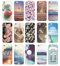 Hot Various Flower Saying Words Painted Pattern Back Case Cover for iPhone 5 5S