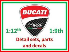 1:12 Ducati detail parts and decal sets to suit Tamiya Fujimi etc.