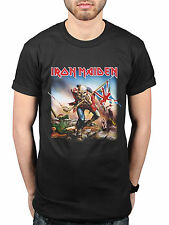 Official Iron Maiden Uk Trooper Flag NEW Graphic T-Shirt Rock Metal Band Merch