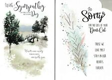 on the loss of your CAT / PET bereavement card - with sympathy card